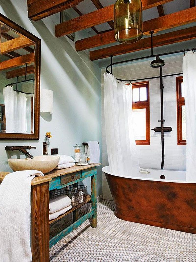 bold-bathroom-with-beams